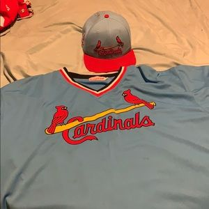 St Louis Cardinals Ozzie Smith Jersey and hat